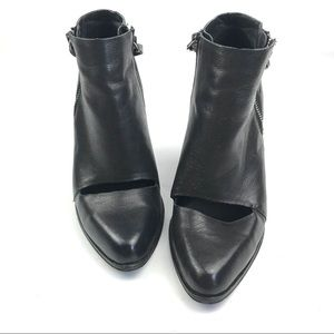 JOE'S JEANS AVRYL leather booties w/cutout detail
